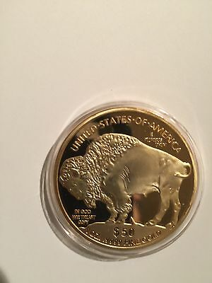 1 Troy Oz $50 FINE .9999 GOLD PLATED LIBERTY/ INDIAN HEAD/ BUFFALO COIN
