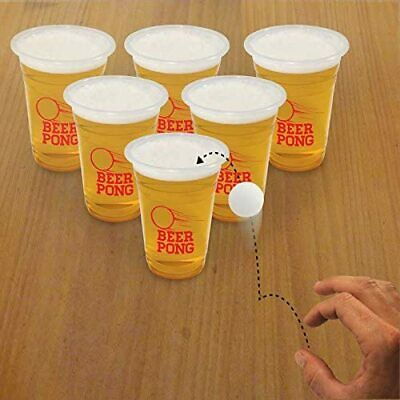 Giant Beer Pong Drinking Party Game -Stag Night Dos 12 1 Litre Cups