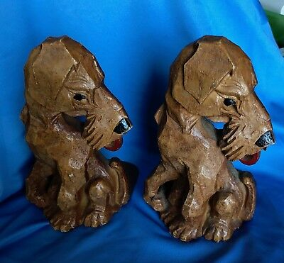 "(Airedale) Terrier Bookends In Excellent Condition 6"" Height"