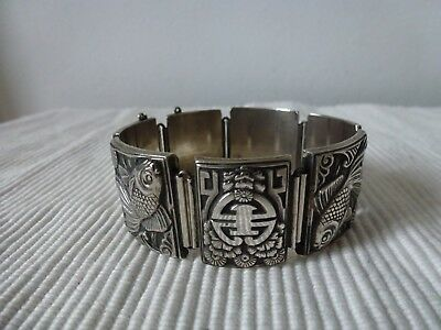 Ancien Bracelet Indochine Argent Massif Chinese Solid Silver Indochina Mark