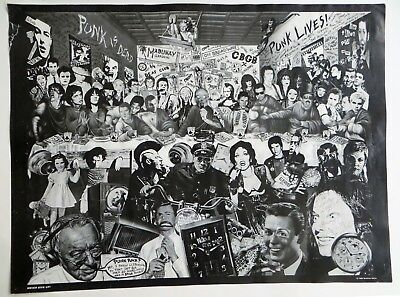 Winston Smith Punk Rock,Greats Vintage Photo Montage Poster CBGBs Mabuhay Garden