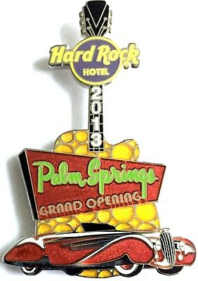Hard Rock Hotel Palm Springs Silver Edition Grand Opening Car Guitar Pin 2013
