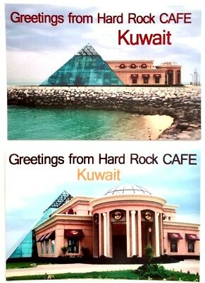 Hard Rock Cafe Greetings From Kuwait Postcards x 2 (Unused) RARE