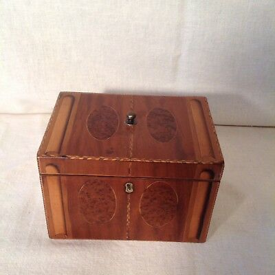 Beautiful Early Victorian Tea Caddy With Lovely Inlays