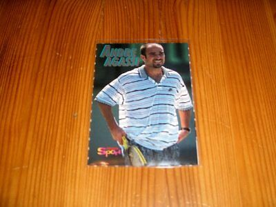 1996  Bravo Sport  Tennis  Trading Card     Andre Agassi