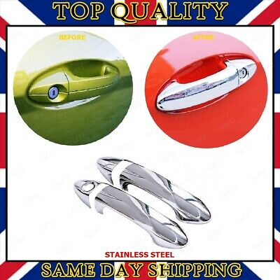 4x Chrome Door Handle Cover S.STEEL Citroen C3 Mk2 II 2009 onwards