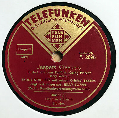 Teddy Stauffer Orch. - JEEPERS CREEPERS / Deep in a Dream - BERLIN SWING 1939