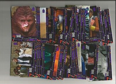 Dr. Who Extraterrestrial Encounters Purple Parallel Lot Of 28 Diff. #/50