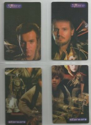 "England Star Wars PATCO 2 sets of ""SPACE""  8 puzzle phone cards Unused (1999)"
