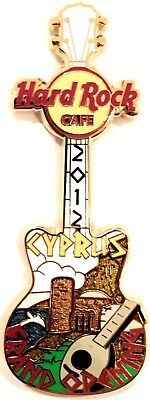 Hard Rock Cafe Nicosia Cyprus Grand Opening Guitar Limited Edition Pin 2012