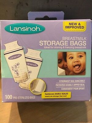 Lansinoh Breastmilk Breast Pump Storage Bags 100 Count - Free shipping!
