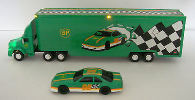 1995 BP Toy racing transport truck MINT-Great gift-100% eBay rating