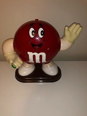 Collectible Red M&M Candy Dispenser Holder