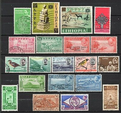 Ethiopia very nice mixed collection,stamps as per scan(6224)