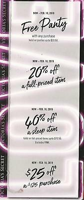 Victoria Secret Love Booklet With Coupons Panty 20% 40% $25 Off