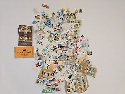 Vintage Stamps Job Lot Bundle Stamp Collecting Mix Philately Gift Canada UK USA!