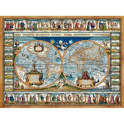 2000 Teile Puzzle, Map Of The World 1639, Castorland 200733
