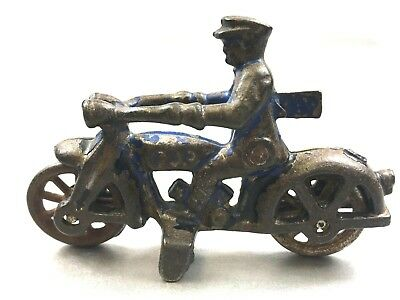 Old Antique Cast Iron Motorcycle Cop Toy Hubley Arcade L@@k