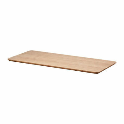 Ikea Desk Top Table Bamboo Hilver Wooden Large Eco Wood Natural Hygge For Office