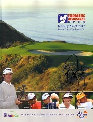Rickie Fowler autographed signed 2012 PGA Farmers Insurance Open golf program