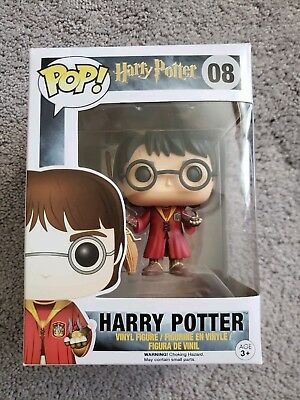 Funko POP! Movies #08 HARRY POTTER (Quidditch Outfit w/Golden Snitch) Vinyl