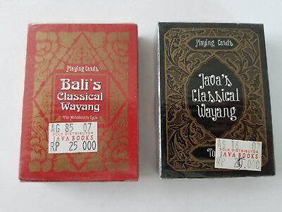 Playing Cards Java's and Bali's Classical Wayang - New and Sealed