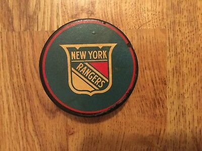 New York Rangers Gerry Cosby Converse vintage puck rare old NHL