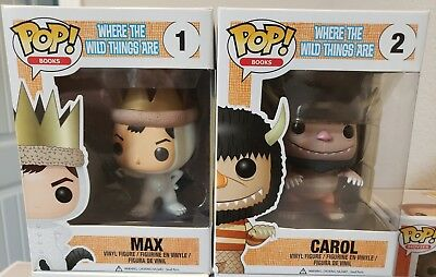 Funko Pop! Books Where the Wild Things Are #1 MAX + #2 CAROL