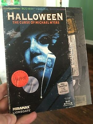 Halloween 6: The Curse of Michael Myers VHS SLIPCOVER (Blu-ray/Digital) SEALED