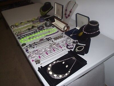 Large Job Lot Of Vintage & Costume Jewellery Necklaces Bracelets Earrings(A2)