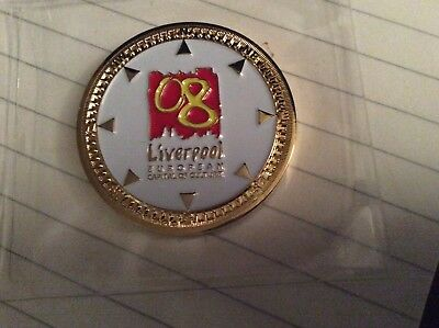 Geocoin Liverpool City of Culture '08 Gold Edition Unactivated