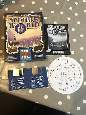 Another World Big Box Amiga Game + Code Wheel, Manual - Tested and Working