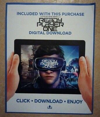 Ready Player One (2018) - ULTRAVIOLET HD CODE ONLY (No Blu Ray)