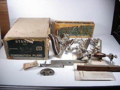 Vintage Stanley No. 55 Combination Plane In Box With Paperwork