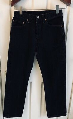 Vintage Levis 505 Jeans Black Made in USA 80's Red Tab, tag: 32x30, actual 31x29