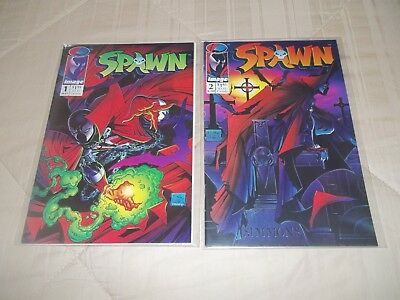 Spawn #1 & #2   First Appearance Spawn Image Comics Lot 1992!! Classic!!
