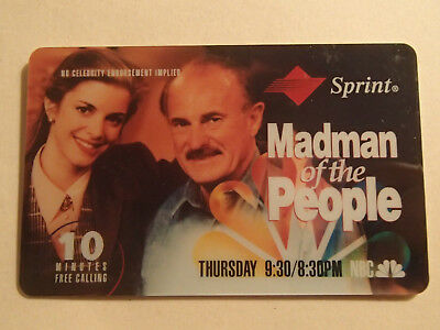 1994 NBC Fall Lineup Phonecard Expired Madman of the People Dabney Coleman