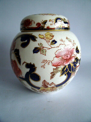 Antique/vintage Masons Mandalay Ginger Jar~Ironstone China~Hand-Painted Flowers