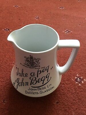 John Begg Advertising Jug Whisky Jug Pub Jug