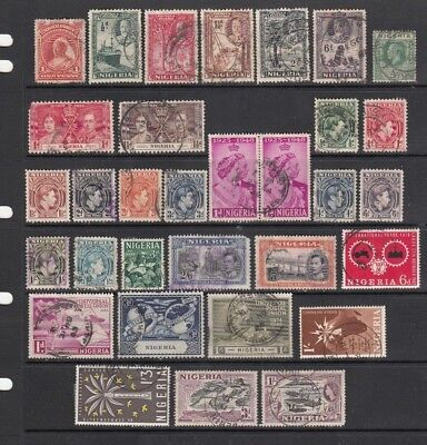 Nigeria, 32 Fresh, Early Stamps, Great Cds, Coronation, U Postal Union, Nice Pr.