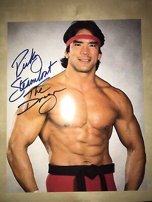 """Ricky Steamboat """"The Dragon"""" WWE Wrestling Signed 8x10 Photo"""