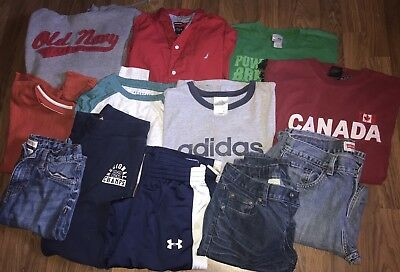 boys Winter/Spring/Play Clothes/Shirts/Jeans/Sz 14/16/Lot Of 12/Under Armour/