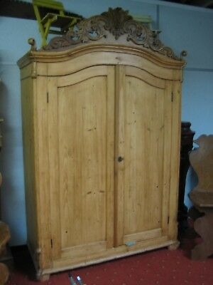 Beautiful Antique Carved Russian Armoire / Cupboard