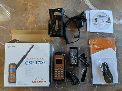 Globalstar Gsp-1700 Satellite Phone W Less Than 16 Minutes Of Use