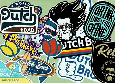 NEW and RARE Dutch Bros Coffee Stickers