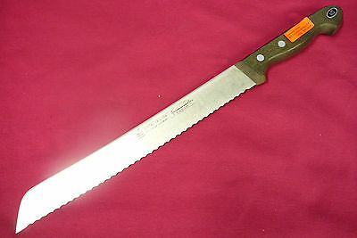 "Solingen German Gustav Emil Ern Wide Slicer Knife 10"" SS Wavy Edge Blade NOS"