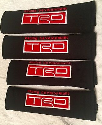 Trd Toyota Seatbelt Harness Pads Complete Set X4 Front And Rear,for Toyota Used.