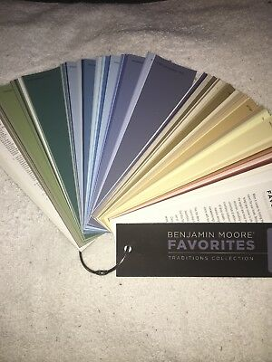 Benjamin Moore Paint Favorites Traditions Collection Color Fan Deck / New