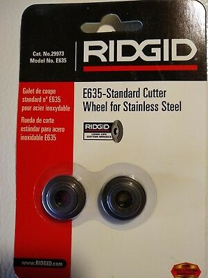 2 RIDGID Tube & Pipe Cutting Wheels, E635 / 29973 Cutter for Stainless Steel