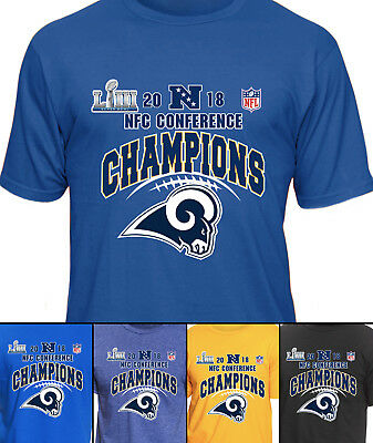 Los Angeles Rams NFC Conference Champions NFL Graphic T-Shirt Men's (d)